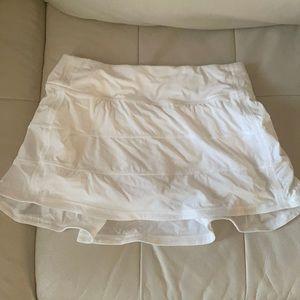 White Lululemon Athletic Tennis Skirt- Size:4